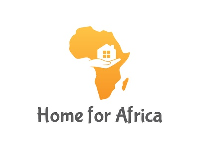 Home For Africa hand care africa logo charity mortgage real estate property house home