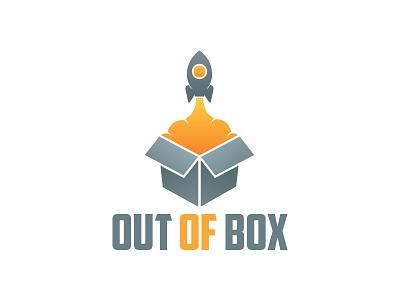 Out Of Box Logo innovative studio creative idea rocket box logo out of box