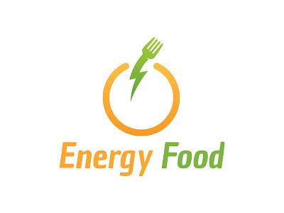 Energy Food Logo energy logo food logo thunder food app restaurant hotel fork flash power food energy