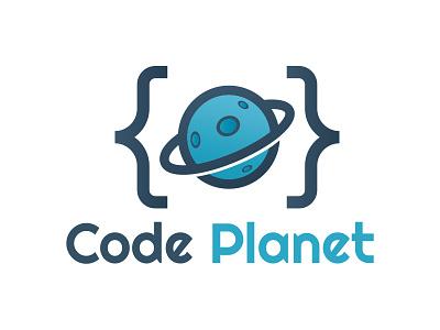 Code Planet Logo code store plugins programmer code studio development programming web universe planet code logo