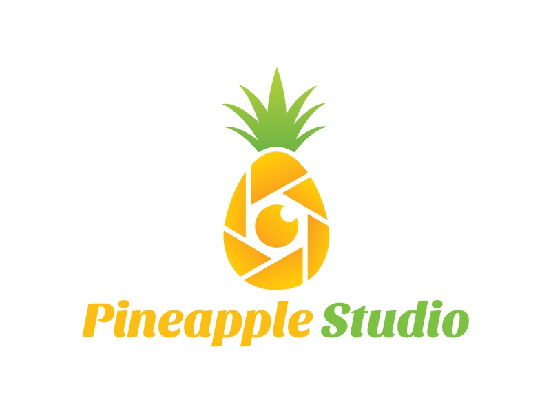 Pineapple Logo juice fruits fresh nature photography logo lens camera shutter studio apple pineapple logo