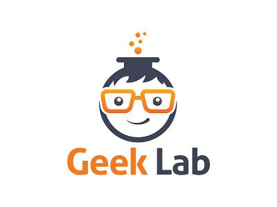 Geek Lab Logo creative scientist science geek geek lab lab logo geek logo