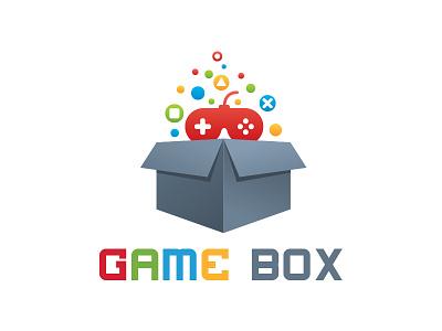 Game Box Logo game console playstation xbox game store box logo game studio creative entertainment fun game logo game box