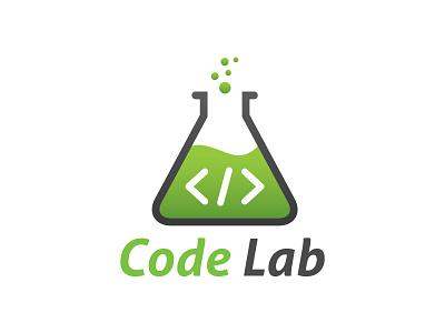 Code Lab Logo code logo lab logo solution programmer code studio web developer coding code lab