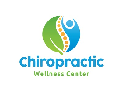 Chiropractic Logo massage spa wellness health care active backbone spine eco chiropractic