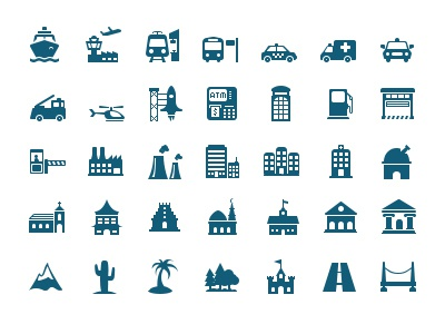 Map Symbols By Martin James Dribbble