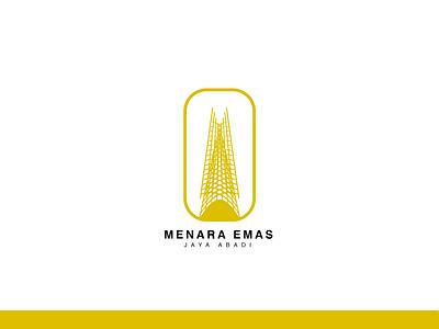 Menara Emas vector illustration logo