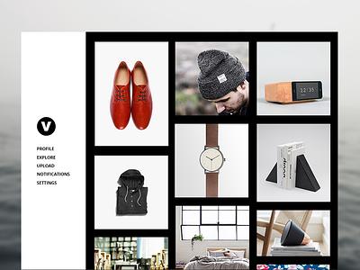 Visualist Concept design simple minimal website interface visualist ux app ui