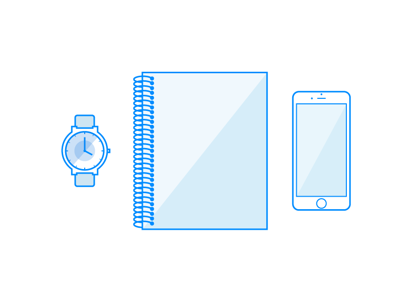 Simple Line Illustrations flat essentials line illustration