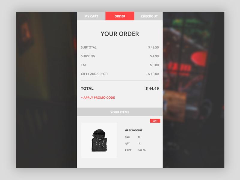 Checkout Process 002 daily ui design simple minimal website interface ux ui