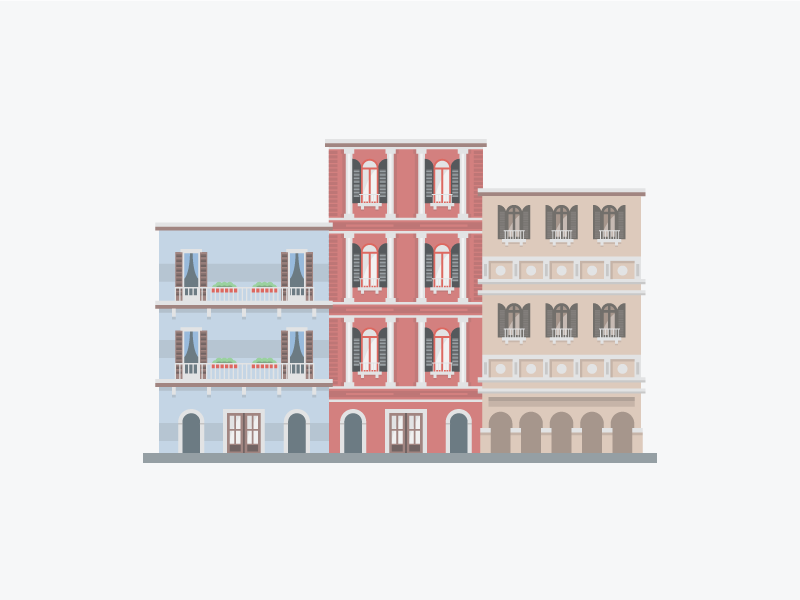 Buildings architecture illustration
