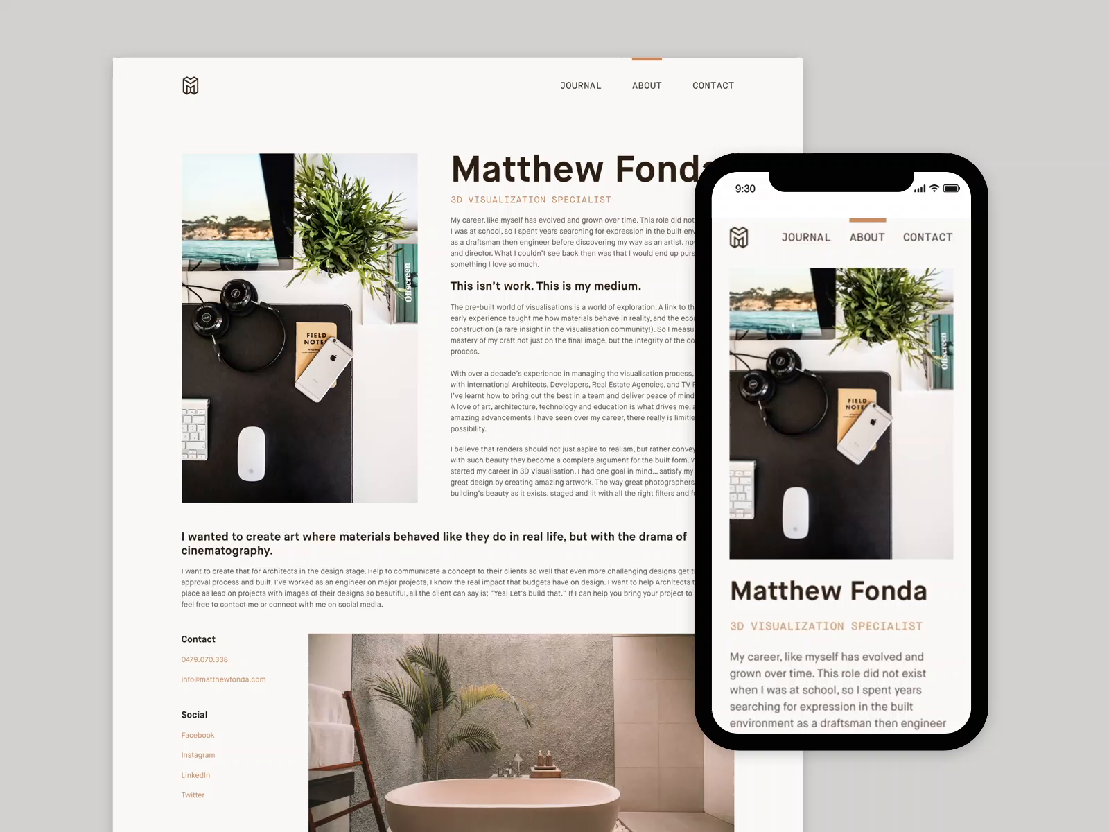 Matthew Fonda About Page