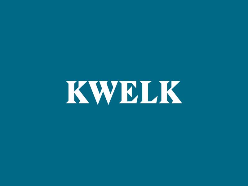 Kwelk Logo typography logotype logo branding kwelk