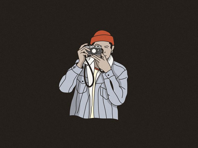 Smile photographer camera illustration