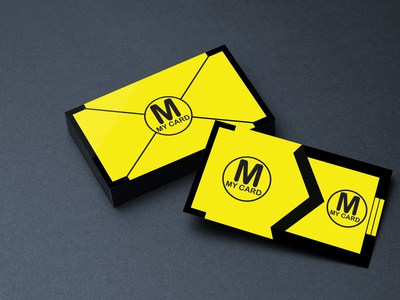 Business Card Design flat icon typography illustration design
