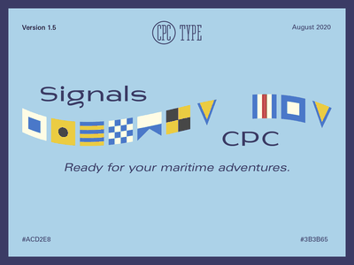 Signals CPC - A SVG font ready for your maritime adventures. svg typeface svg font flags maritime nautical font type type design
