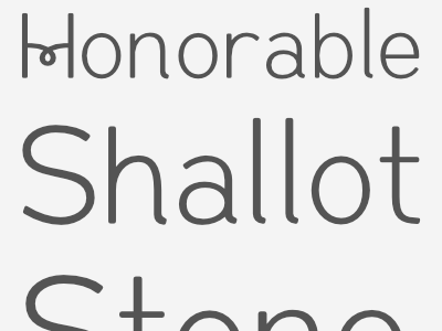 Honorable Shallot Stone - Siren CPC curl sans-serif stone shallot honorable type design font typeface type