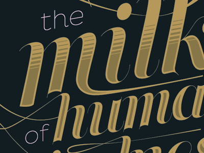 The Milk of Human Kindness by Christopher P. Cacho on Dribbble