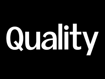 Quality typography type design font typeface