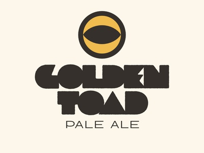 Golden Toad Pale Ale pale ale beer product logo logo typedesign
