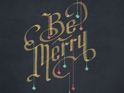 Be Merry holiday christmas countdown calligraphy gold wallpaper desktop picture merry ornaments be merry advent watercolor