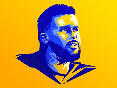 🏈Aaron Donald portrait illustration sports sports art american football football nfl aaron donald logo identity icon design dlanid brand design branding