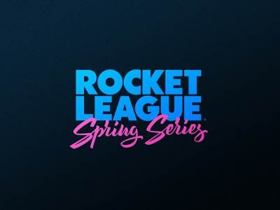 Rocket League Spring Series logo design badge icon gaming sport dlanid esports rocket league identity sports logo branding lettering logo lettering