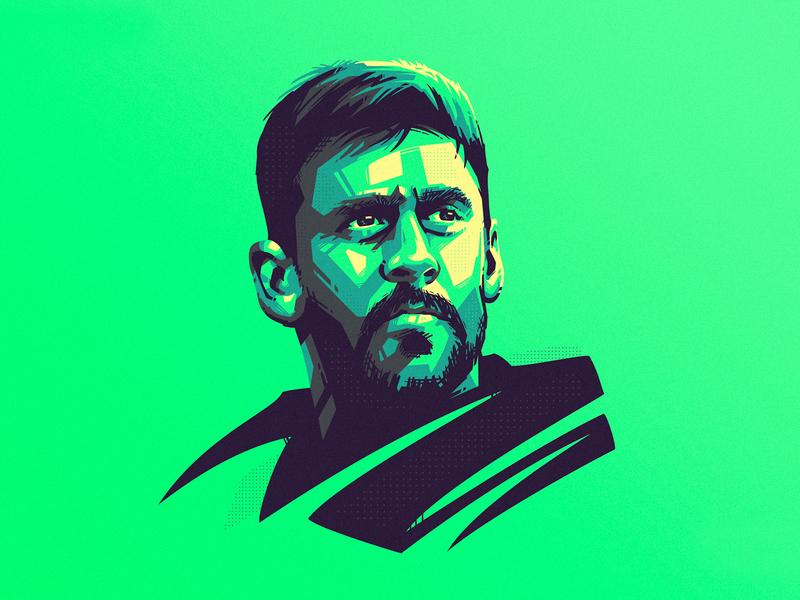 Aaron Rodgers 🏈 america football vector illustration sports branding nfl aaron rodgers