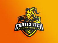 Goatglitch gaming icon badge logotype dlanid mascot identity sports branding logo faun goat