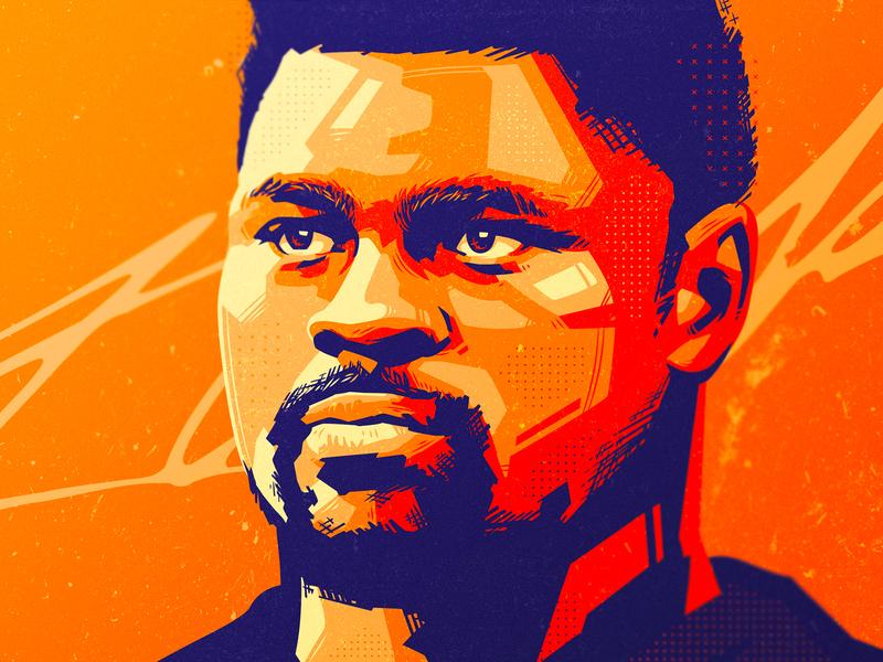 Khalil Mack 🏈 sports sports design branding identity design sport vector portrait sports branding khalil mack chicago bears illustration art football nfl