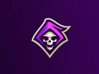 Reaper mascot esports badge icon dlanid illustration logotype mascot sports identity branding logo