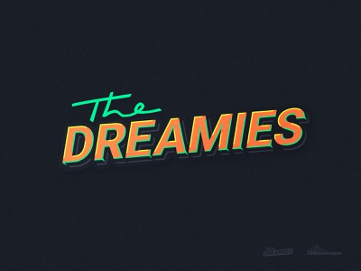 The Dreamies dreamhack badge lettring icon design esports logotype branding logo dreamies thedreamies