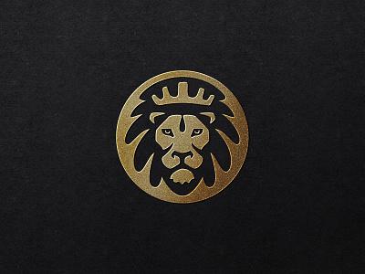 Grace Essentials logo design water logotype identity branding lion head badge icon monarch crown gold logo lion