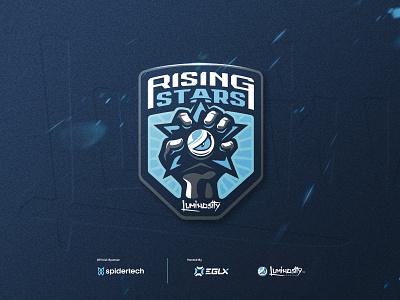 Rising Stars design sport mascot sports identity branding gaming icon esports badge logo luminosity rising stars
