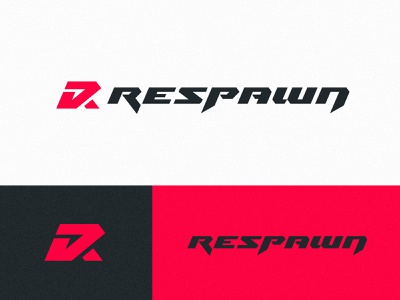 Respawn logo design vector badge gaming esports logotype sports identity branding sharp letters lettering logo
