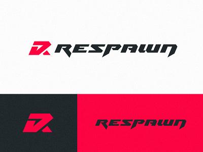 Respawn logo design vector badge gaming esports logotype sports identity branding sharp letters lettering logo