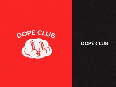 Dope Club vector logotype mascot identity branding logo apparel clothing simple icon vintage patch badge cloud