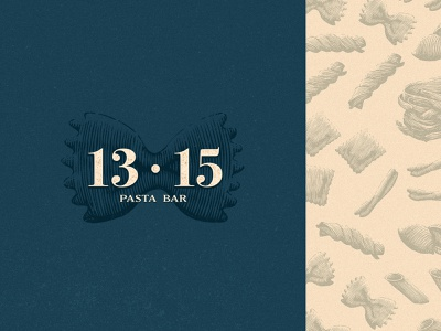 1315 Pasta Bar cosy branding illustration simple restaurant food identity pizza pasta pattern logo engraving vintage