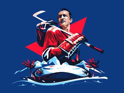 Yakushev banner vector identity hockey nhl sport sports branding illustration simple icon