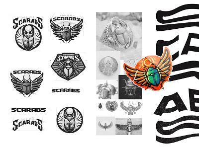 Solar Scarabs dlanid gaming esports logotype identity sports icon mascot minimal badge illustration design smite branding logo scarab bug