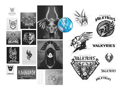 Valhalla Valkyries smite esports icon badge simple nordic valkyr valhalla dlanid logotype mascot sports identity branding logo