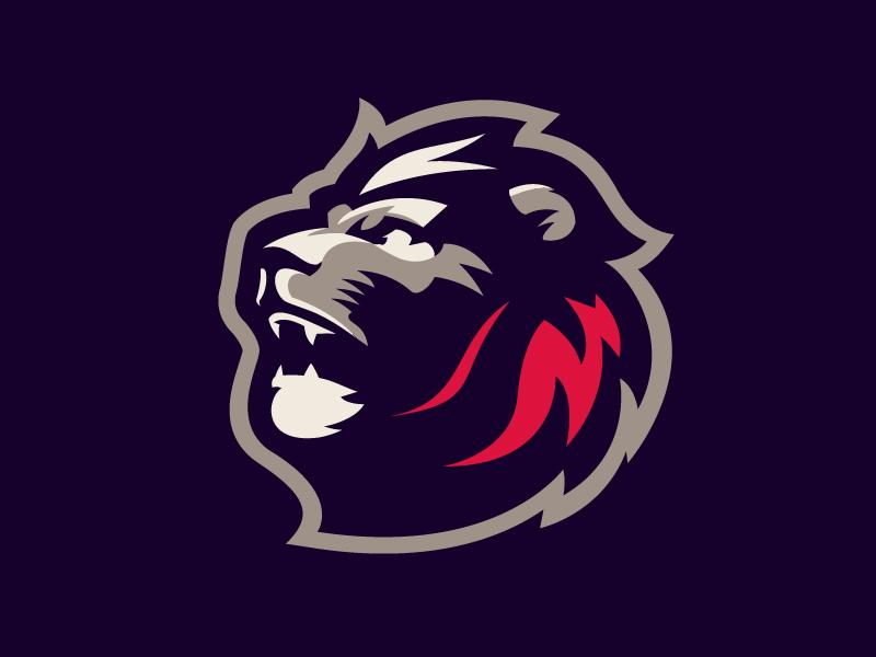Oslo Kings logotype sport lion mascot logo sports