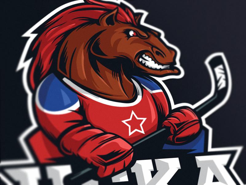 CSKA fun art brand sports horse logo mascot цска cska