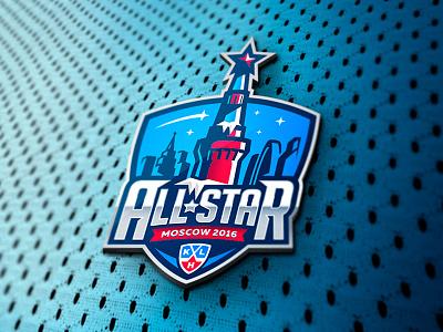 Moscow All-star Game logo design moscow khl nhl hockey identity branding logotype logo sports