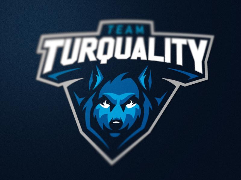 Team Turquality sports mascot logotype logo identity turquality team game wolf esports branding