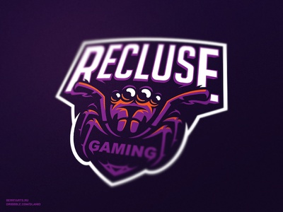 Recluse gaming logo sport spider team sports mascot logotype logo identity game esports branding