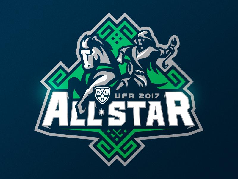 KHL All-Star Game 2017 ufa sports mascot logotype logo identity hockey branding all star all star game khl