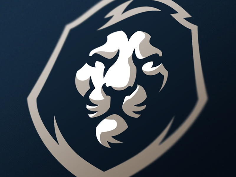 Lion sport monarch sports mascot logo lion cat gaming esports design branding