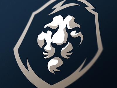 Lion sport monarch sports mascot logo lion cat gaming esports design branding