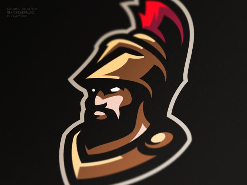 Spartan warrior knight trojan sports spartan mascot logo gaming esports design branding
